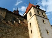 picture of bohemia  - Historic medieval Krivoklat Castle in Czech Republic ( central Bohemia near Prague) ** Note: Visible grain at 100%, best at smaller sizes - JPG