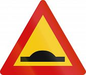 image of bump  - Road sign in Iceland  - JPG