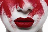 image of bloody  - Halloween bloody makeup - JPG