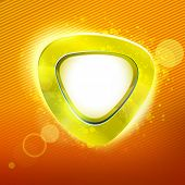 stock photo of applique  - Sunny colors curve form applique background - JPG