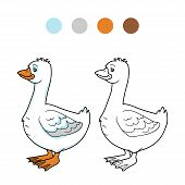stock photo of baby goose  - Game for children - JPG