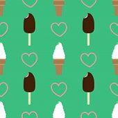image of eskimos  - Repeating vector illustrations of ice creams - JPG