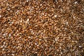 picture of flax seed  - Pounds of tiny flax seeds for background - JPG