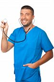 Portrait Of Male Doctor With Stethoscope