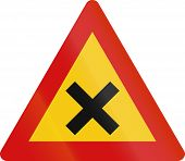 image of crossroads  - Road sign in Iceland  - JPG