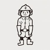 picture of fireman  - Fireman Doodle - JPG