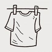 picture of clotheslines  - Clothesline Doodle - JPG