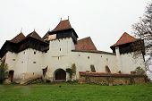 image of fortified wall  - Medieval fortified church surrounded by defence walls - JPG