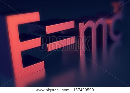 E=MC2 Einsteins famous physics formula