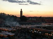 Place Jemaa el Fna at sunset