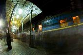 Peron na estação ferroviária