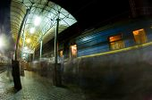 Peron at the railway station
