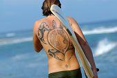 Tattooed Surfer
