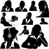 Sekretär und Call Center-Betreiber