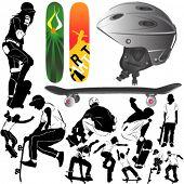 skateboard vector 2
