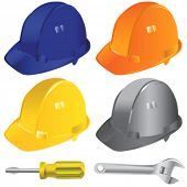 construction workers hard hat vector 2