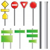traffic sign vector