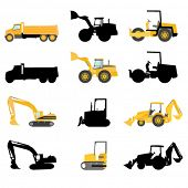 pic of truck farm  - construction machines vector - JPG