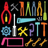 colorful tool icons vector
