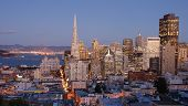 San Francisco, California Skyline At Dusk