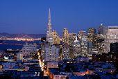 San Francisco, California Skyline At Dusk