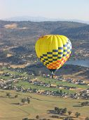 Hot Air Balloon Over Napa Valley