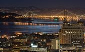 Bay Bridge, California At Night