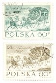 Vintage Postage Stamps From Poland