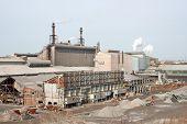 A steel factory yard