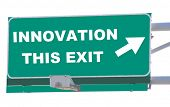 Exit sign concepts innovation this exit isolated