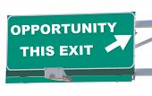 Exit sign concepts opportunity this exit isolated