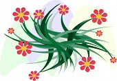 A vector design floral element. You can change color and size as you wish.