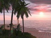 A tropical island retreat.