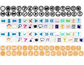 A set of web icons in vector format