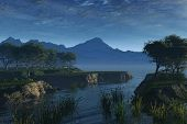 Beautiful lakeside scene