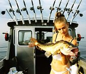 The Girl On Fishing.