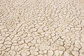 Image of splitting ground of desert with many cracks