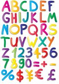stock photo of verbs  - Vector illustration of magnets of alphabet - JPG