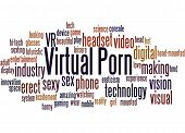Virtual Porn, Word Cloud Concept 3 poster