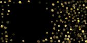 Abstract Star Of Confetti. Falling Starry Background. Random Stars Shine On A Black Background. The  poster