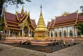 Wat Phra That Chom Chan one of the 9 important pagodas of Chiang rai province, Thailand.