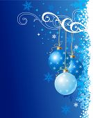 Blue Christmas Background / Ornament/Urlaub / Vector Illustration
