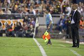 VALENCIA, SPAIN - OCTOBER 17 - Josep Guardiola - FootBall Match of Spanish Professional Soccer Leagu