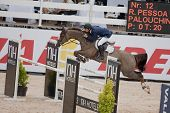 VALENCIA, SPAIN - MAY 8: Rider Pessoa, Horse Palouchin de Lingny, Brazil in the Global Champions Tou
