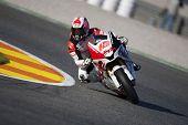 VALENCIA, España - el 6 de noviembre: Fonsi Nieto en motogp el gran premio de la Comunitat Valenciana, Ricardo