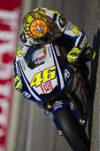 VALENCIA, SPAIN - NOVEMBER 6: Valentino Rossi in motogp Grand Prix of the Comunitat Valenciana, Rica