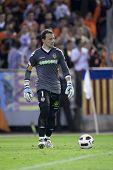 VALENCIA, Spanien - 10. APRIL: Cesar in der spanischen Fußball-Liga zwischen Valencia c.f. Vs Villarreal