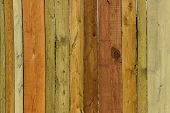 Old Wooden Fence. Close-up Shot Of Multicolored Wooden Wall. Wooden Texture. Wooden Fence.wooden Tex poster