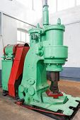 Forging Hammer Machine For Forge The Steel For Reduce Sizing Of Steel. poster