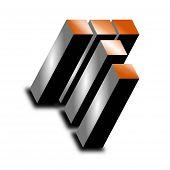 3d icon - Metallic T 2